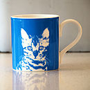 Blue Oscar Cat Mug 01