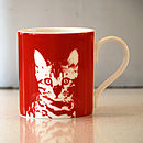 Red Oscar Cat Mug 01