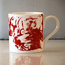 Red Oscar Cat Mug 02