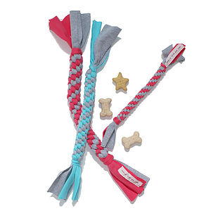 Cotton Twisty Tough Dog Toy - toys