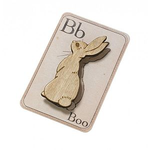 Boo Bunny Brooch - women's jewellery