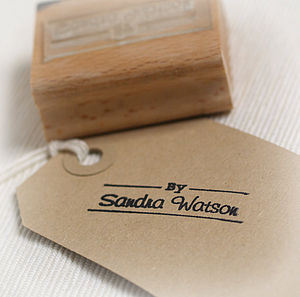 'By…Name' Personalised Rubber Stamp