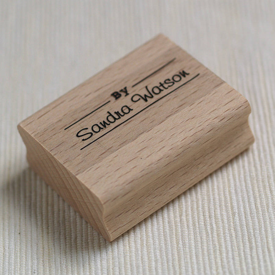 personalised by name rubber stamp by pretty rubber stamps
