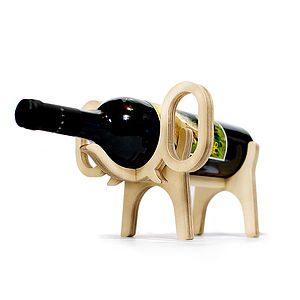 Elephant Wine Rack - drink & barware