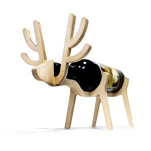 Personalised Reindeer Wine Rack