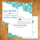 Paisley Lace Wedding Stationery