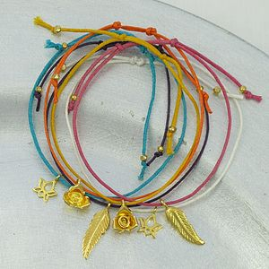 Gold Charm Friendship Bracelet - women's jewellery