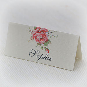 English Rose Design Place Cards - place cards