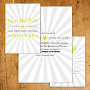 Retro Starburst Wedding Stationery