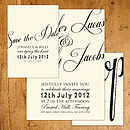 Script Wedding Stationery
