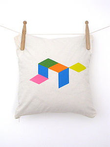 Geometric Cube Cushion - cushions