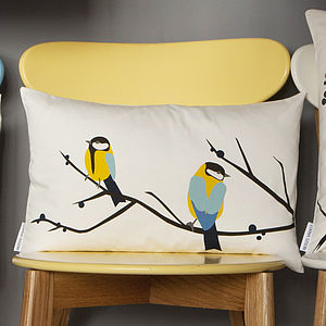 Juneberry And Bird Cushion - cushions
