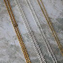 Sterling silver, rose & yellow gold plate trace chains