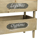 Set Of Three Wooden Stacking Produce Crates