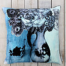 Vase Cushion Aqua Marine