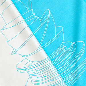 Blue Crockery Tea Towel - aprons