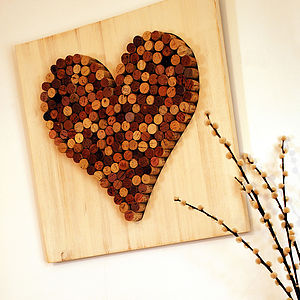 Wine Corks 'Love Heart' Wall Hanging - noticeboards