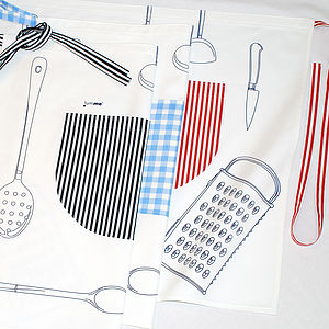 Adult's Unisex Utensils Café Apron - kitchen