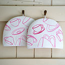 Pink Embroidered Tea Cup Tea Cosy