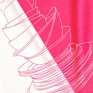 Pink Crockery Tea Towel - aprons