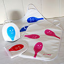 Spoons With Faces Toddler Bib And Egg Cosy