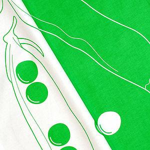 Green Pea Pod Tea Towel
