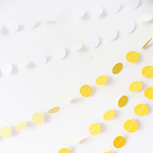 Summer Ombré Paper Garland - on trend: yellow & grey