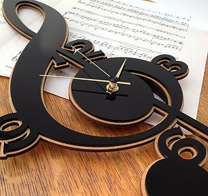 Treble Clef Clock - clocks