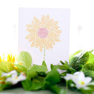 Sunflower Of Hearts Card - anniversary cards
