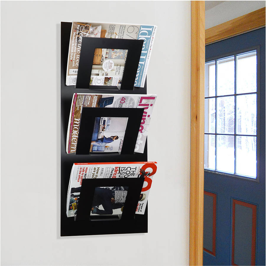 Wall mounted three tier magazine rack by the metal house limited notonthehi - Ikea porte revue mural ...