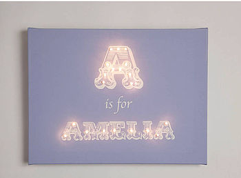 Alphabet Illuminated Canvas