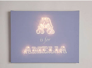 Alphabet Illuminated Canvas - children's pictures & paintings
