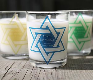 Bar Mitzvah Personalised Candles Favours - baby & child