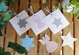 Plantable Star, Angel And Snowflake Set