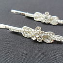 Pair Of Diamante Hair Clips
