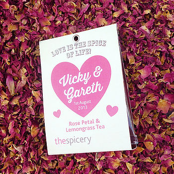 Rose Petal Tea Wedding Favours