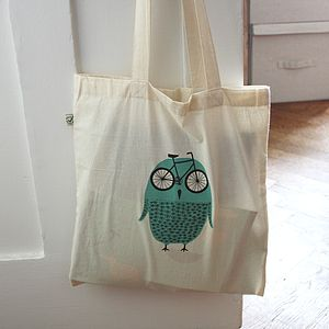 Bike Owl Tote Bag - bags, purses & wallets