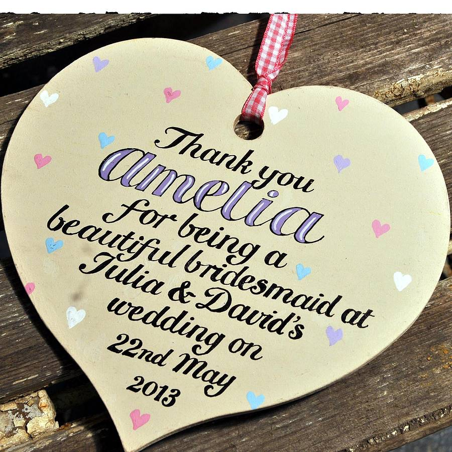 Personalised Bridesmaid S Thank You Gift