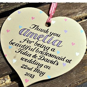 Personalised Bridesmaid's Thank You Gift