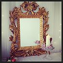 Large Leaf Detailed Baroque Gold Mirror