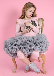 Angels Face Pettiskirt Tutu Silver Cloud - clothing