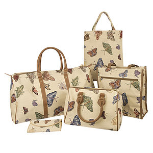 Butterfly Tapestry Luggage Collection - holdalls & weekend bags