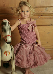 Angels Face Pettiskirt Tutu Tea Rose - clothing