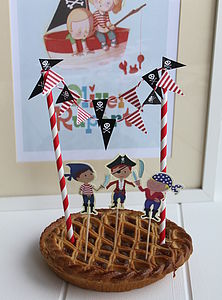 Pirate Cake Toppers And Bunting - kitchen