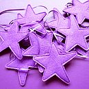 Handmade Purple Felt Star Decoration