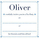 Personalised Invitations Blue