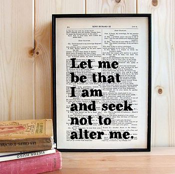 Inspirational Shakespeare Quote Print