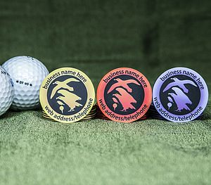 100 Personalised Golf Ball Markers