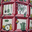 Vintage Mid Century Kitchen Cushion / Pillow