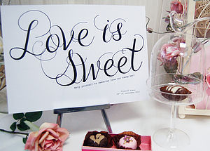 Candy Buffet Wedding Sign - room decorations